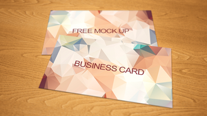 Business card boke free mock up PSD by dimkoops