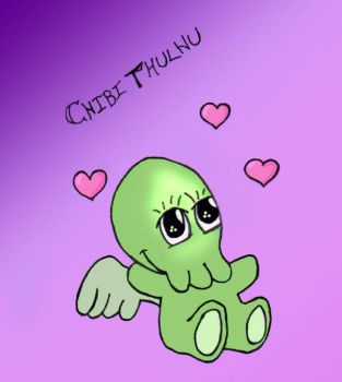 CHIBITHULHU colored by donnadudette2003