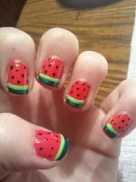 Watermelon Nail Art by TheNailFile