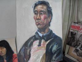 3 hours oil painting 16 by curryQ