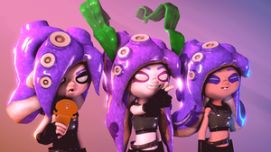 Hatsune Luna Triple Octoling (Animated) by Poool157