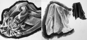 Drapery/folds studies by pSarahdactyls
