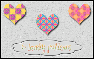 Six lovely patterns by Sweet83