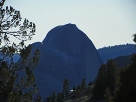 Half Dome on a Dry Winter's Day by Synaptica
