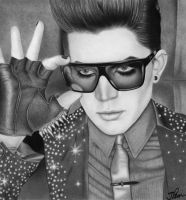 Adam Lambert Drawing LC2 by santabillie