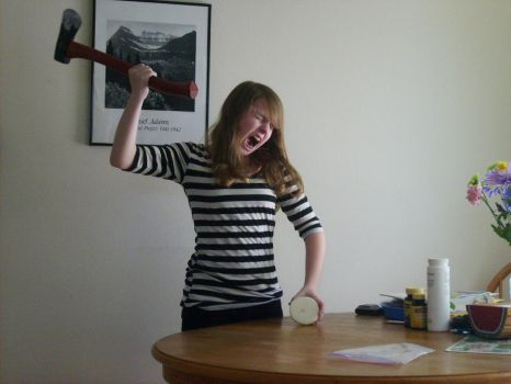 This is me, cutting an onion. by Ridnia