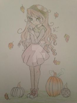 Autumn Girl Drink by MySapphireReverie