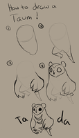How To Draw A Taum by H-appysorry