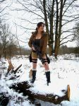 Lara Croft Looking for Danger by IXISerenityIXI