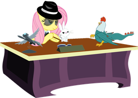 Mafioso Fluttershy Is Best Fluttershy by PinkiePizzles