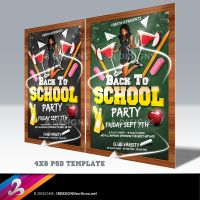 Back To School Party Flyer Template by AnotherBcreation
