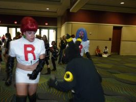 Jessie and James vs. Umbreon by Squirrelosaurus-Rex