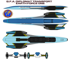 G.F.A. diplomat transport Earth Force One by bagera3005
