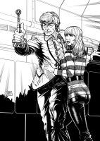 The Third Doctor 1 (2011) Inks by SteveAndrew