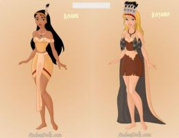 Pocahontas' Daughters Rohini and Roshan by KendraKickz0220