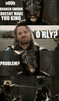 How Aragorn Deals With Trolls by FlashBulbProductions
