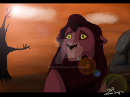 The Lion King : Kovu : by Rakaye