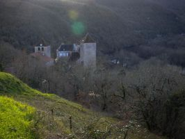 January 2014 - Montvalent towers by HermitCrabStock