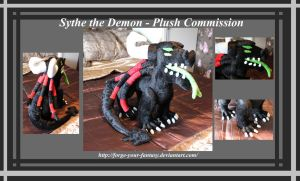 Sythe The Demon Plush - Commission by Forge-Your-Fantasy