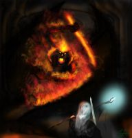Balrog VS Gandalf in the bridge of Khaza Dum by jepoytheboy