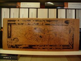 The Wheel of Time / La Roue du Temps in Pyrography by tokita59