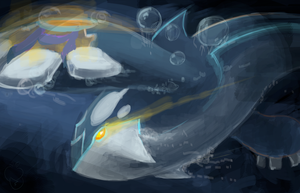 alpha kyogre by Appletail