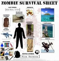 Zombie Survival Sheet by Oriana132