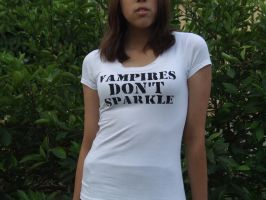 Vampires Don't Sparkle Tee by the-mandee-x