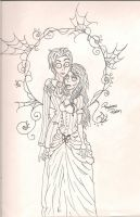 Corpse Bride: Victor and Emily by RequiemsRaven