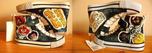 STAR WARS Angry Birds shoes by karka17