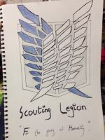 Scouting legion (survey corps)  by CieruPhantomhivu