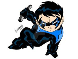 CHIBI NIGHTWING COLORED by CHIBIWORLD