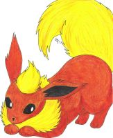Flareon by Foureyedalien