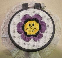 Cheeky Flower Cross-Stitch (NOW REVAMPED) by mystacisms