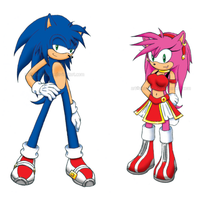 Sonic and Amy - 5 Years Later by ShadOBabe