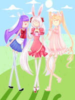 Adventure Time with Eve, Mika and Yamis by Mikabunni