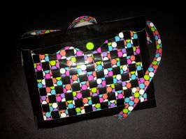 polka dot duct tape messenger bag by DuckTapeBandit