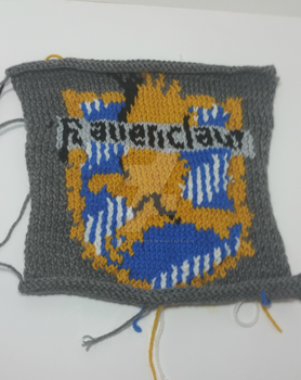 Ravenclaw Knitted Colorwork Square by Schorchingskys