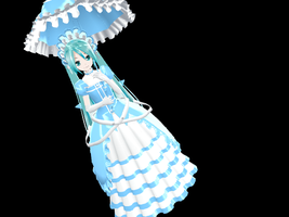 Lat Victorian-Style Miku DL by midnighthinata