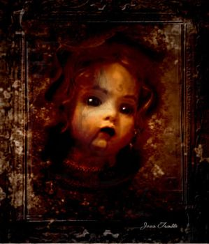 Dolls head in Wall by Mr-Moonlight