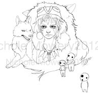 Mononoke Lines For Contest by nicholemowery