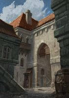 Medieval-city-alley by drawing-gnome