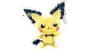 Paint Drip Pichu by ImpersonatingPanda