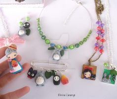 Studio ghibli fanart accessories by elvira-creations
