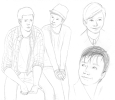 Glee sketchdump by Keitaboy