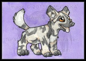 Chibi Watercolors: Aferican Wild Dog 2015 by AirRaiser