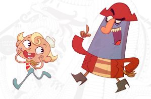 Flapjack and Captain K'nuckles by SammyTorres