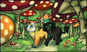 shroom seekers by makimotto