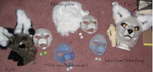 Resin mask line up-part 1 by Sharpe19