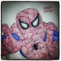 Napkin Art 205 - Peter Parker - Ultimate Spiderman by PeterParkerPA